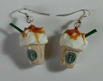 Starbucks Frappuccino with Syrup Polymer Clay Earrings