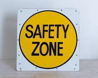 vintage traffic australian safety zone sign