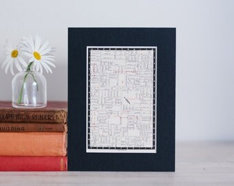 """1950s map of Melbourne suburbs, Australia - Bentleigh, Carnegie and Murrumbeena, ready to frame, 6 x 8"""""""