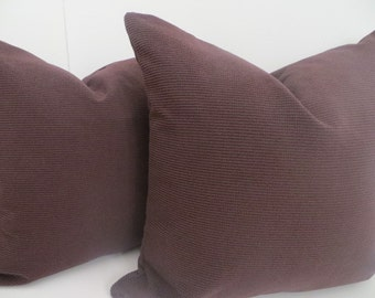 20x20 Decorative Pillow, Solid Praline Pillow, Solid Chocolate Pillow- Chocolate Pillow Covers- Pillow Covers- Pillows