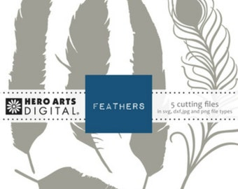 Hero Arts Feathers Digital Cut File Feathers DT104