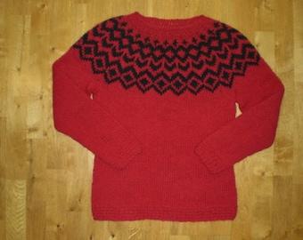 Icelandic womens wool sweater/pullover, XS-S-M-L-XL-2XL-3XL-4XL-5XL-6XL made to order
