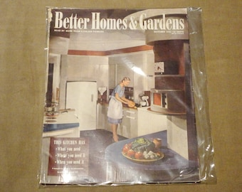 Complete Magazine October 1945 Better Homes & And Gardens Vintage Architectural Design Fashion Atomic Mid-Century Mad Men Eames RARE 1940's