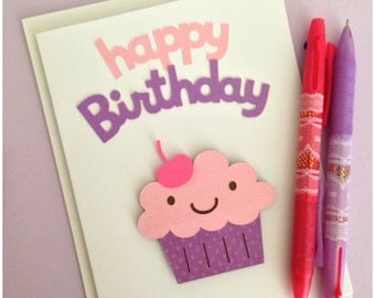 Happy Birthday Cupcake! Greeting Card