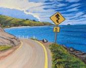 "16"" x 16"" Molokai Drive/ Fine Art Print/ Giclee on Canvas"
