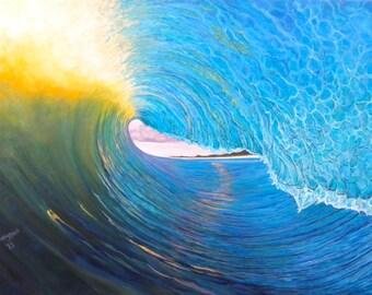 "In the Vault/ 11"" x 14"" Giclee on Archival Paper/ Fine Art Original/ Surf Art"