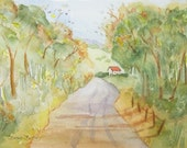 Original Watercolor Painting named The Road Home