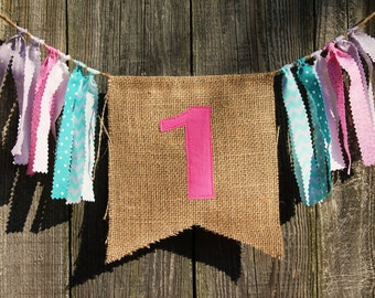 Custom Burlap Banner, Birthday Bunting Banner,  Birthday Photo Prop, You Pick Your Colors