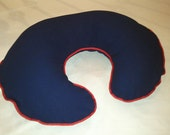 Boppy Cover - Dark Blue with Red Cording