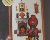 dimensions crewel needlework kit fireside gent 1980 new in package 5 by 7 stocking stuffer