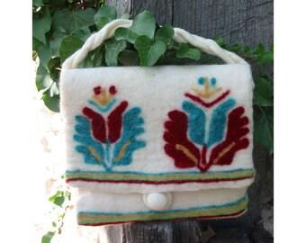 Felt Bag-handmade, OOAK-BG embroidery