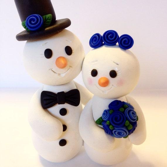 Snowman Wedding Cake Topper