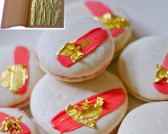 "23k Edible Gold Leaf (Loose) 3 1/8"" x 3 1/8"" (25 Sheets for listed price)"