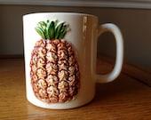 Vintage Pineapple 1980s Otagiri Mug