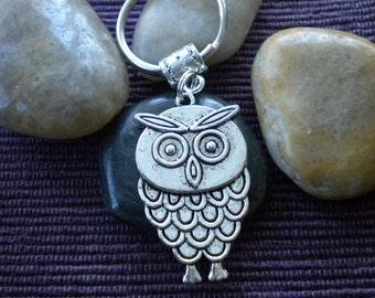 Silver Owl Keychain/Keyring