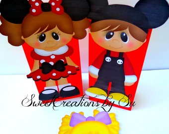 SALE ispired Minnie/Mickey  Party Favor Bags Full body