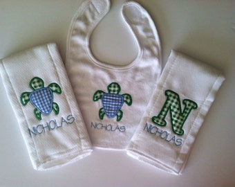 Personalized Burp Cloth's and Bib