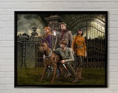 The Gang - Scooby Doo reimagined original painting print