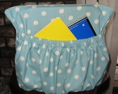 Blue Polka Dot Chair Cover Kindergarten Classroom Chair Pocket Organizer For Kids Clearance Sale