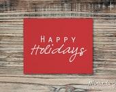 Happy Holidays - Christmas Print by MJDandSupply