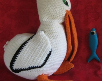 Vintage Knit Pelican and Fish