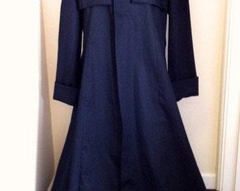 NEW! Black Cotton Drill Duster Coat Matrix/Neo/Morpheus Style Costume/Overcoat
