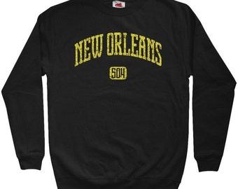 New Orleans 504 Sweatshirt - Men S M L XL 2x 3x - Crewneck New Orleans Shirt - 4 Colors