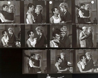 HOUDINI 1953 Tony Curtis Janet Leigh Set of 5 8x10 production still contact sheets 200 ppi uncompressed TIFFs