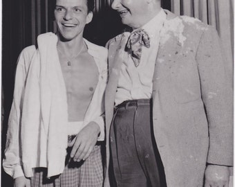 Frank Sinatra and Toots Shor One of a Kind Original 8x10 Photo 1955 300ppi uncompressed TIFF