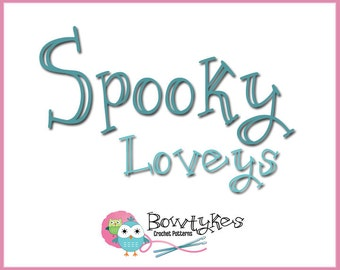 Spooky Loveys Combo Pack (zombie, witch, pirate, monster, ghost) - CROCHET PATTERN instant download - blankey, blankie, blanket