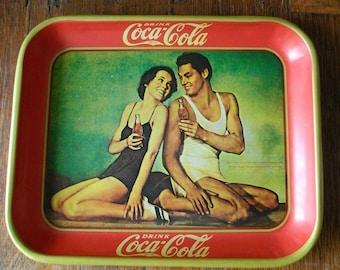 Vintage Tarzan Coca Cola Tray 1970s