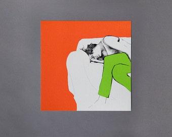 Sarah, 2014 25cm x 25cm Archive Giclee Print