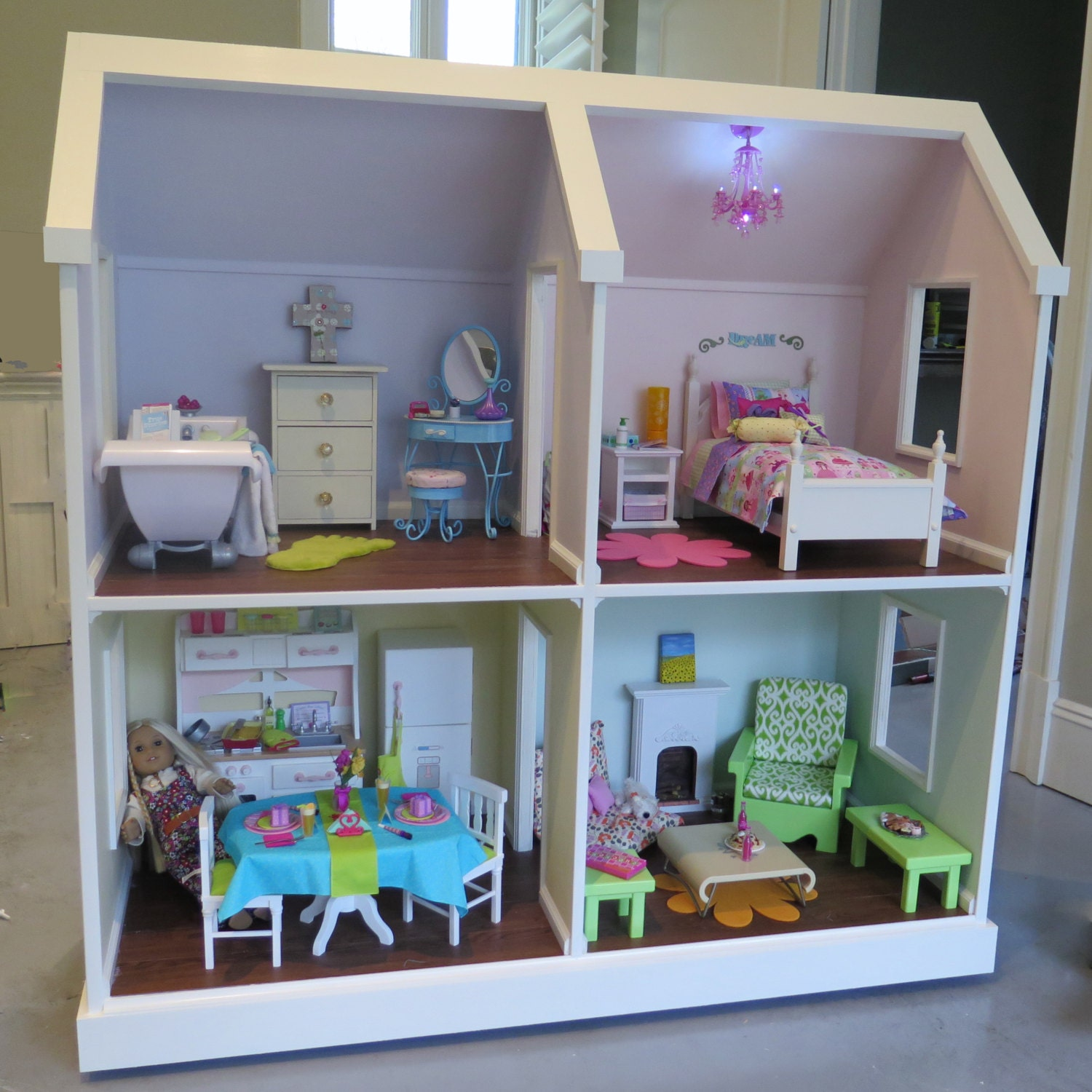 DIY American Girl Doll House Ana White | Three Story American Girl ...