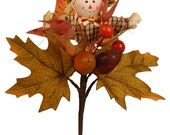 """8"""" Scarecrow pick, Fall Pick, Fall Decoration, Fall Scarecrow"""