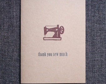 Sewing Machine Thank You Card - thank you sew much