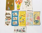 Vintage Greeting Card Lot 9 Miscellaneous Cards Anniversary Baby Get Well Dad Congratulations Box