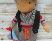 RESERVET for Marti  - Handmade Organic Waldorf Doll