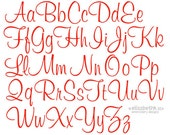 """Sizes 1"""",2"""",3"""" - Instant Download - Embroidery Font 217 - Machine Embroidery Font"""