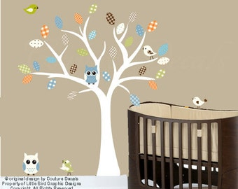 Vinyl wall decal tree childrens decal set - 0251