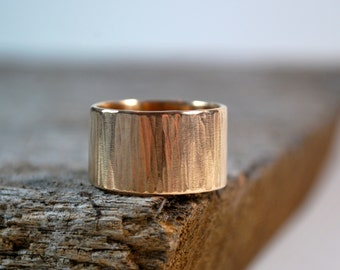 Mens Wedding Band - Mens Wedding Ring - Tree Bark Ring - Rustic Mens Wedding Band - Unique Wedding Ring