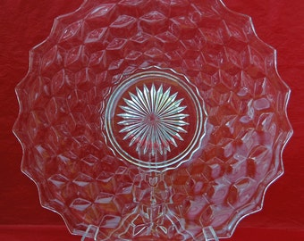 "Vintage AMERICAN FOSTORIA PLATTER, 12"" Di., For Chops or Cake, Excellent Condition! Perfect Gift For Any Occasion -"