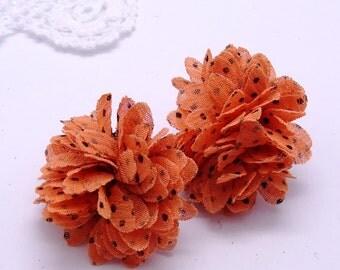 Chiffon flower stud/post earring
