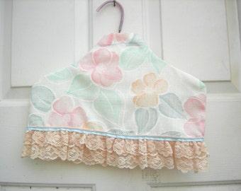 Vintage covered hanger lingerie hanger lace