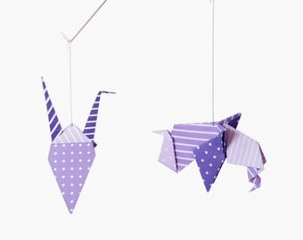 CHOOSE three colors to make your perfect mobile and/or the perfect present! Origami mobile for baby!
