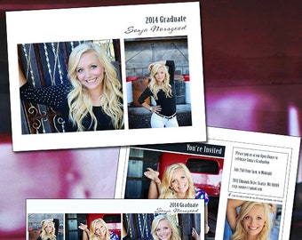 Graduation Photography Card Template & FB Timeline - Grad Day 6 INSTANT DOWNLOAD