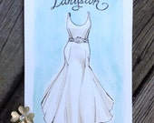 Custom Wedding Dress Painting