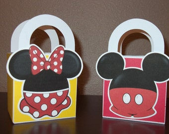 Mickey & Minnie 3 x 3 Favor/Treat/Gift Bags (Set of 6)