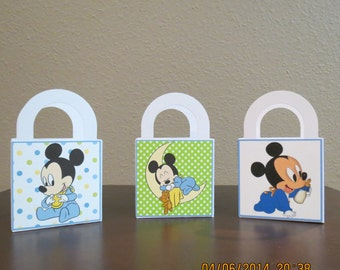Baby Mickey Favor Bags 3 X 3 (Set of 12)