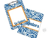 Personalized Clipboard - Zebra Design- Great for School - Great Teacher Gift - Co-Worker Gift - Great for Coaches