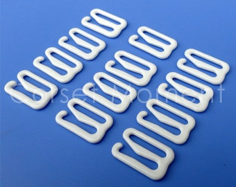 White Metal Garter Belt Suspender Hooks Corset Supplies 48 Pieces